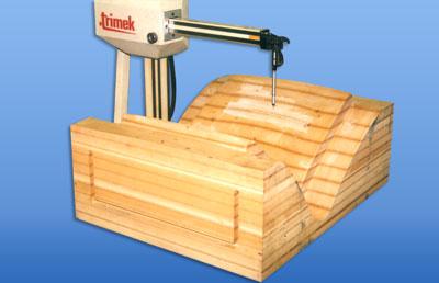 dřevěný model
